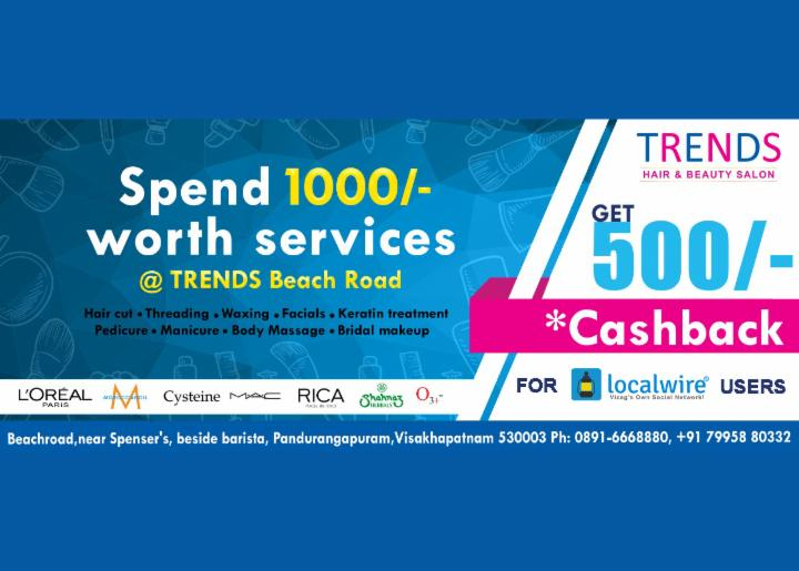 Get 500 Rupees Off - Trends RK Beach