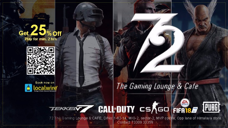 Get 25% Off on Total Bill - 72 The Gaming Lounge