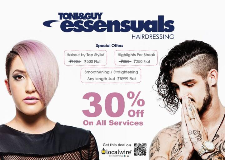 Get 30% Off on all services - Toni&Guy