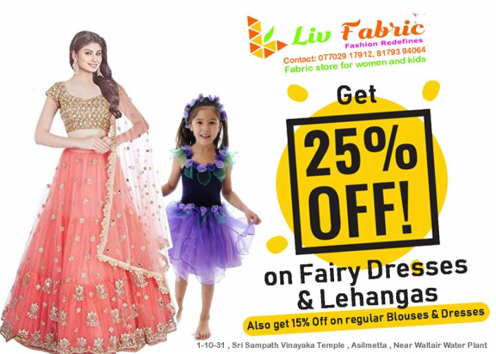 Get 25%Off on Fairy Dresses and Lehangas-LivFabric