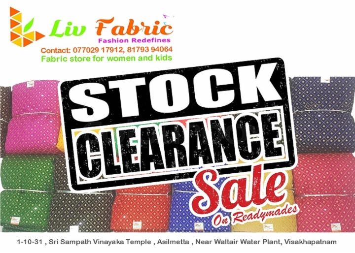Stock Clearance Sale on Readymades - Liv Fabric