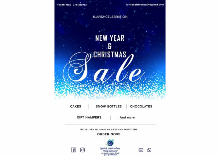 New Year and Christmas Sale