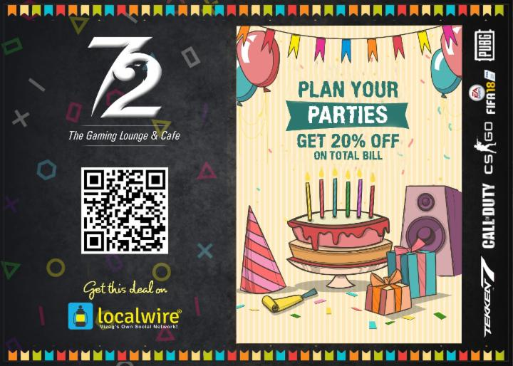 Get 20% off on your Party Bill