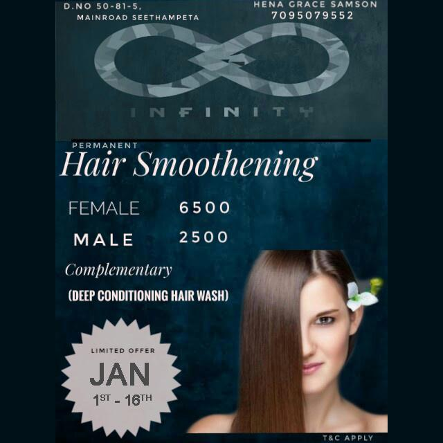 Hair Smoothening for Men and Women - Infinity