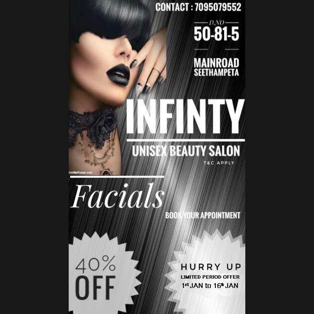 Get 40% Off on Total Bill for Facials - Infinity