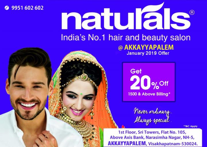 Get 20% Off on 1500 and above bill - Naturals