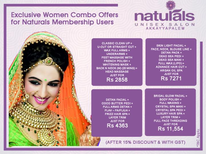 Combo Offers for Women - Naturals Membership Users