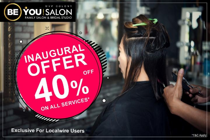 Get 40% Off on All Services - Launch Offer - Be You Salon MVP