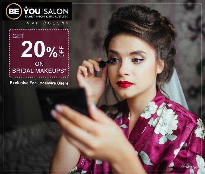Get 20% Off on Bridal Makeups - Be You Salon MVP