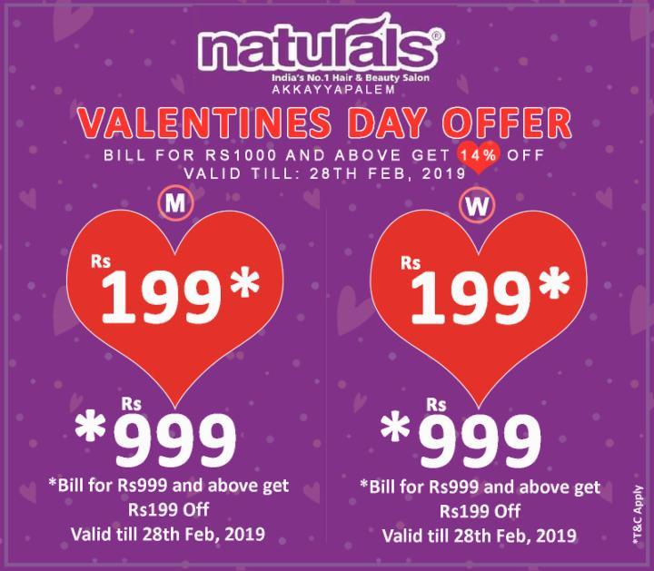 Valentines Day Offer - Naturals Akkayyapalem
