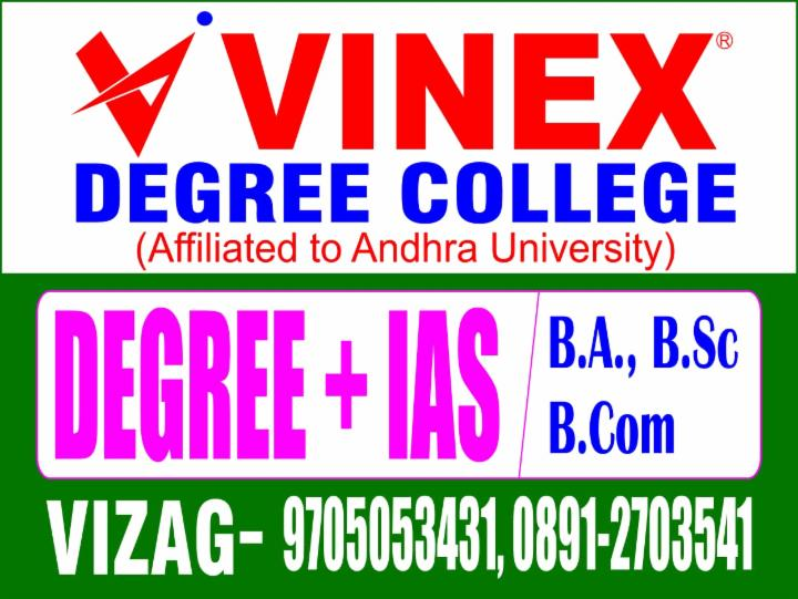 Degree plus IAS Registrations Open at Vinex Degree College