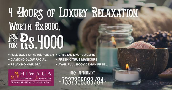 4 Hours of Luxury Relaxation Just at Rs 4000
