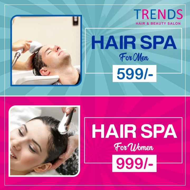 Special Offer on Hair Spa at Trends Salon RK Beach