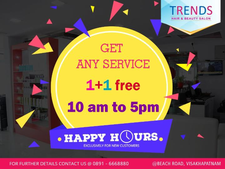 Get any Service and get another for Free - Trends Salon