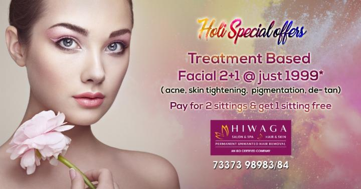Treatment Based Facial 2+1 @ just 1999 Rupees