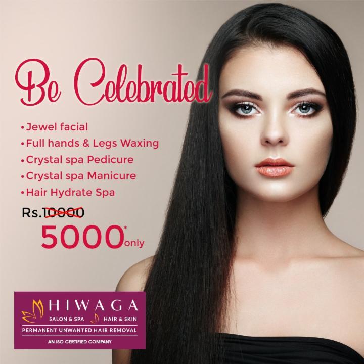Be Celebrated with Jewel Facial etc. @ Hiwaga
