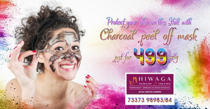Charcoal peel off mask just for 499 @ Hiwaga Salon