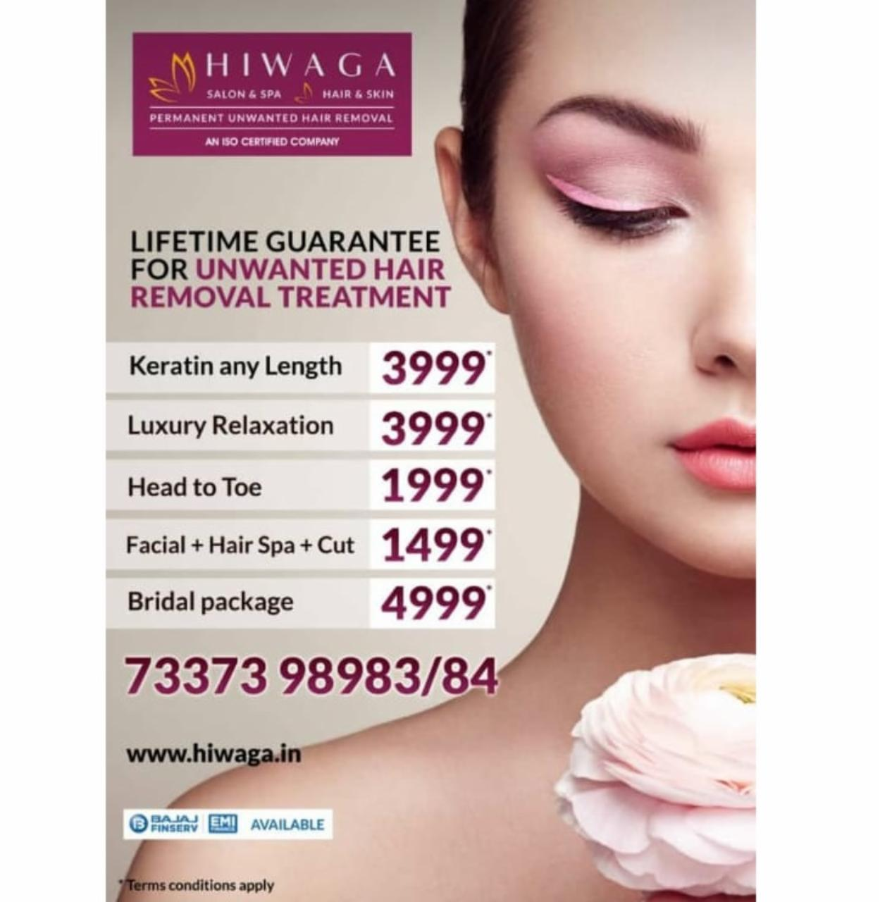 Lifetime guarantee for unwanted hair removal treat