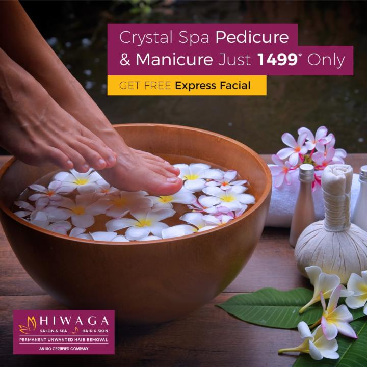 Crystal Spa Pedicure and Manicure Just 1499*