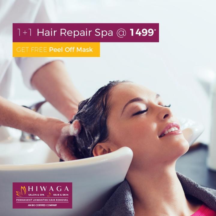 1 Plus 1 Hair Repair Spa @ Rs 1499