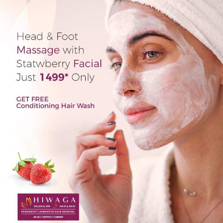 Head & Foot Massage with strawberry Facial @ 1499
