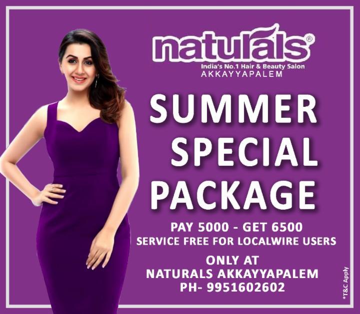 Summer Special Package - Naturals Akkayapalem