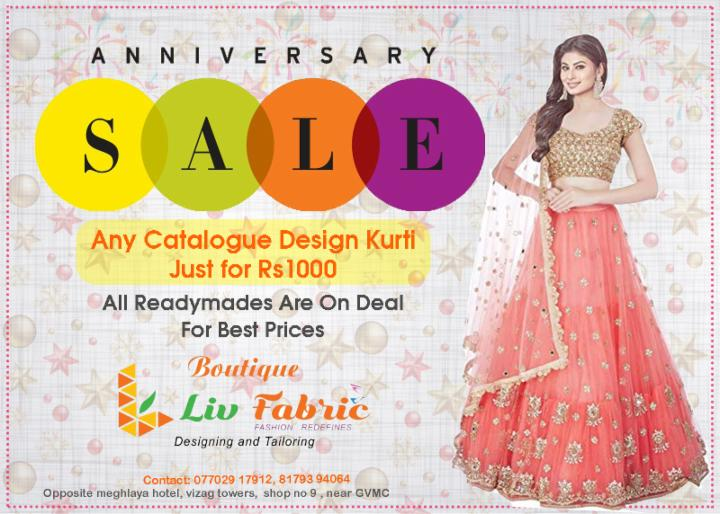 Anniversary Discount Sale at Liv Fabric Boutique