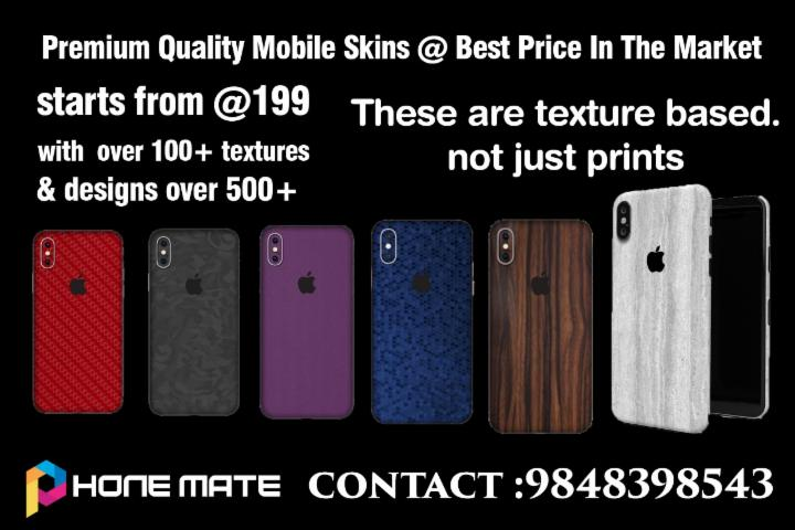 Premium Quality Mobile Skins | Starts From Rs199/-