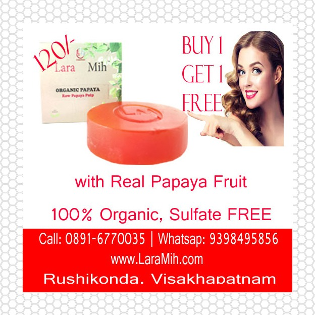 Buy 1 Get 1 FREE Organic Papaya Soap