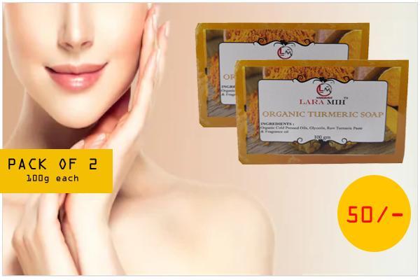 Lara Mih Organic Handmade Turmeric Soap