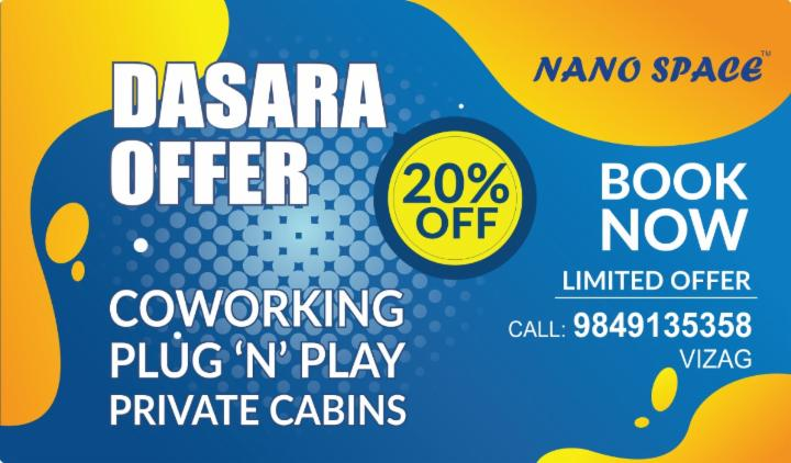 Get 20% OFF on Coworking Space and Office Spaces for your Business in the city with reliable services