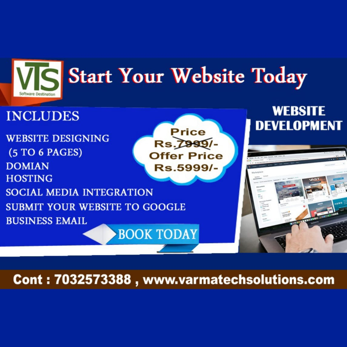 Get stunning Website for your Business at Rs 5999