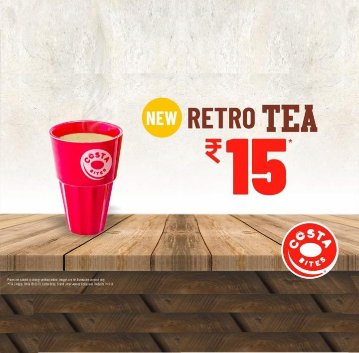 Get Retro Tea  just for Rs 15 at Costa Bites