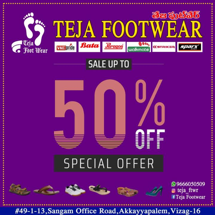 Get Up to 50% Off on Footwear