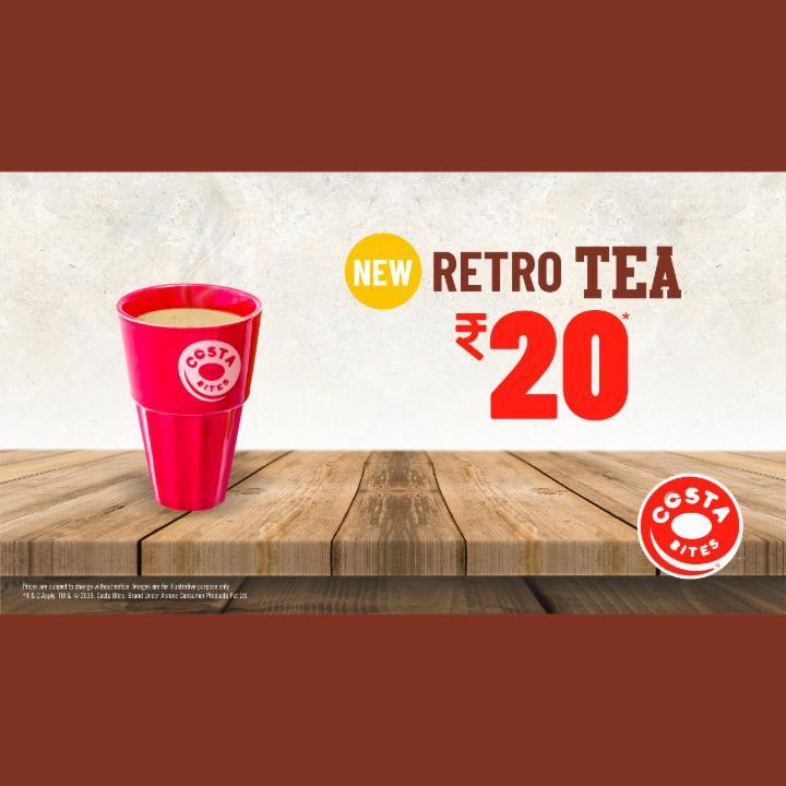 Get Retro Tea Just for 20 Rupees at Costa Bites