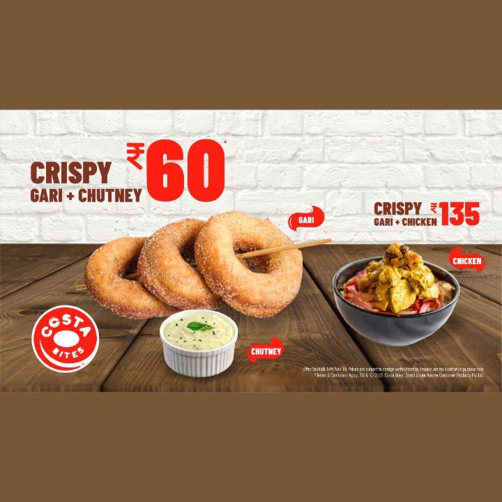 Get Crispy Gari and Chutney at 60 Rupees