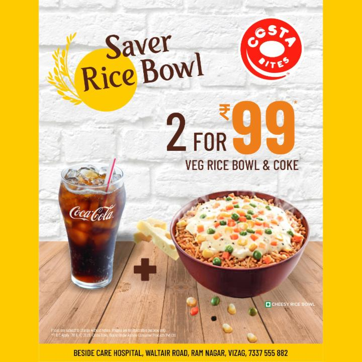 Get Rice Bowl and Coke Just for Rs 99 at Costa Bites