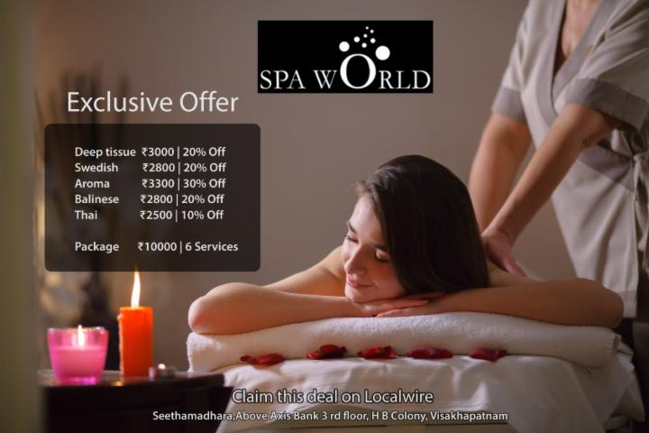 Spa World Exclusive Massage Offers