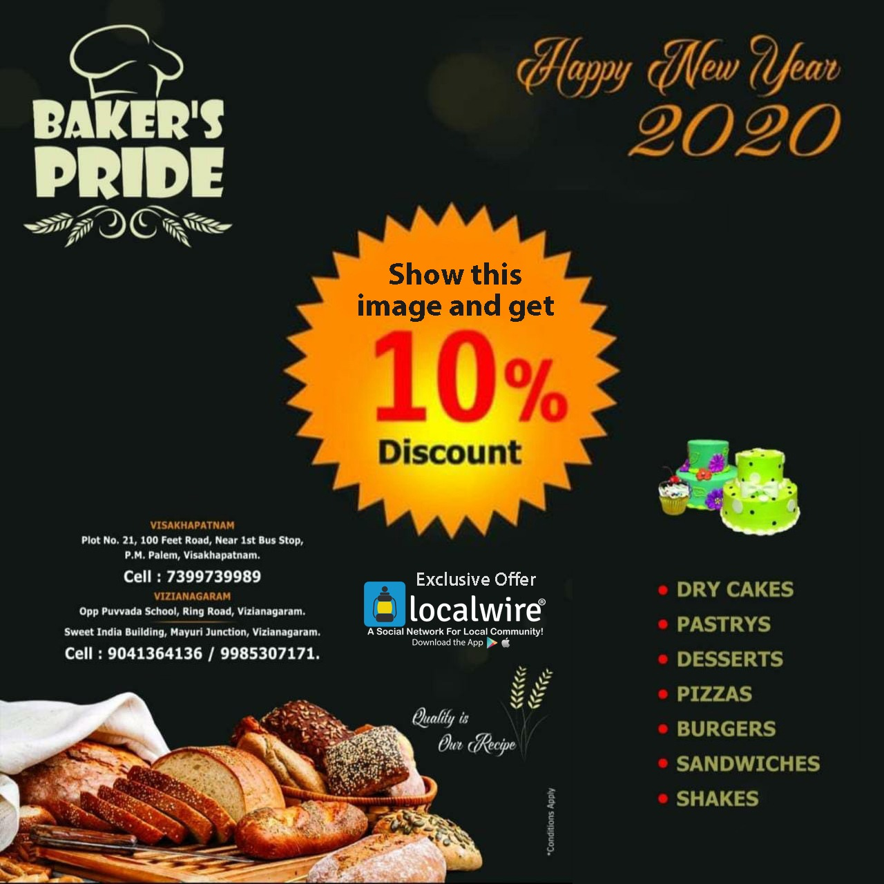 Show this image and Get 10% Off on your bill