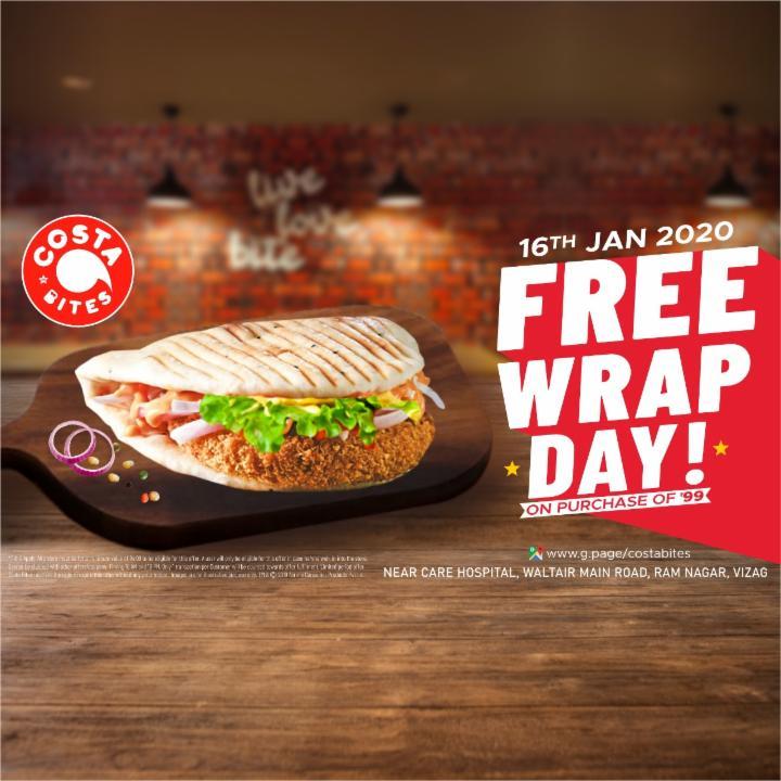Free Wrap Day | Jan 16 | Costa Bites Vizag