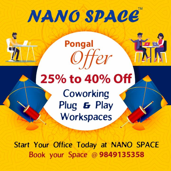 Pongal Offer | Nano Space | Coworking Workspaces
