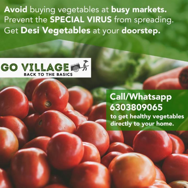 Avoid Corona! Get Desi Vegetables to your doorstep