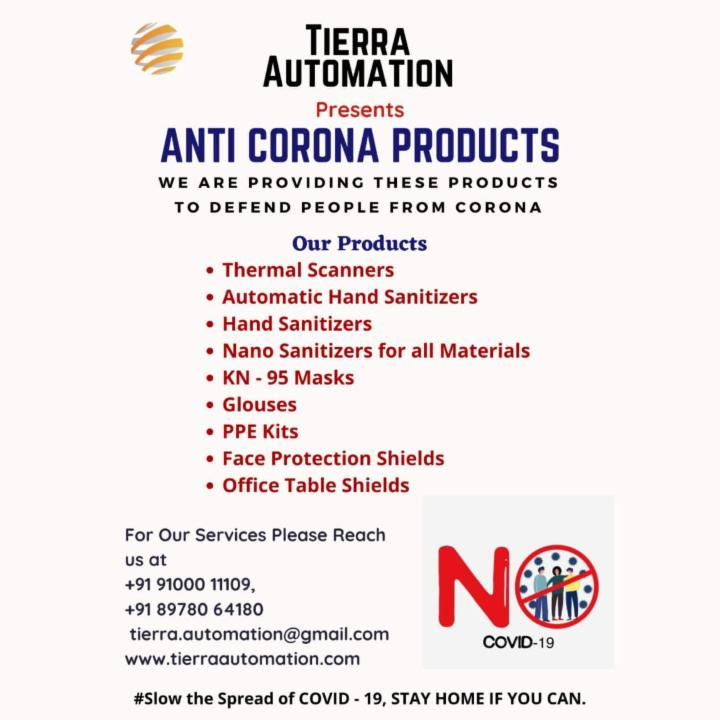 Get Anti Corona Products by Tierra