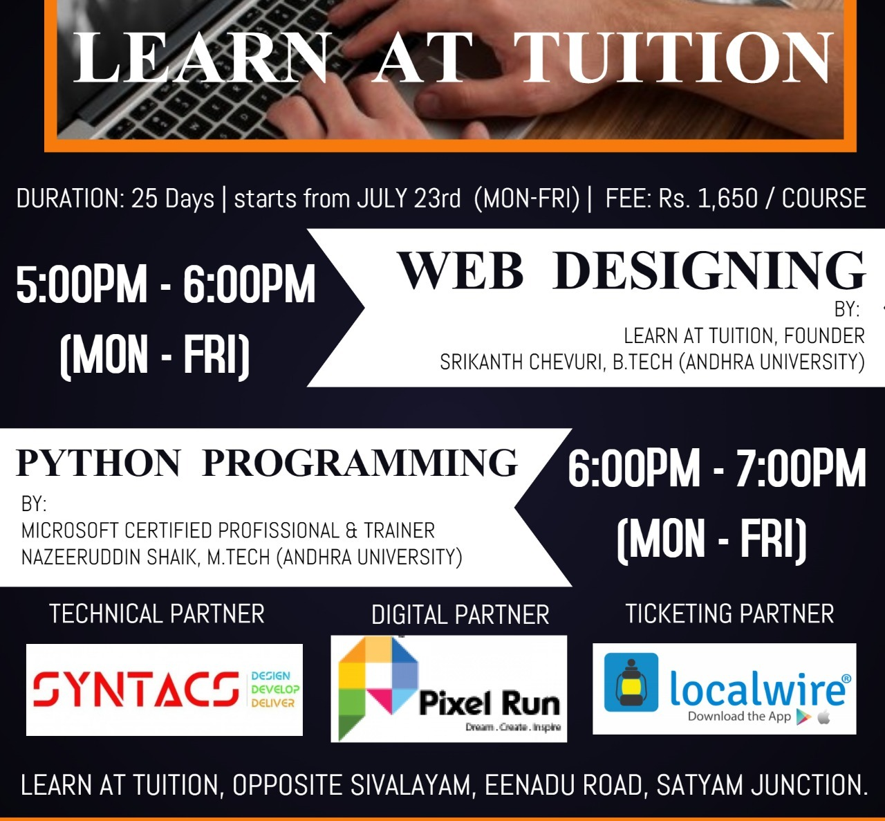 Web Designing And Phython Programming One Month Course Localwire