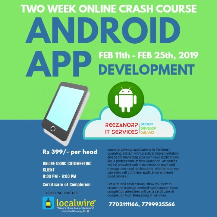 Online Android App Development Crash Course ~ Localwire