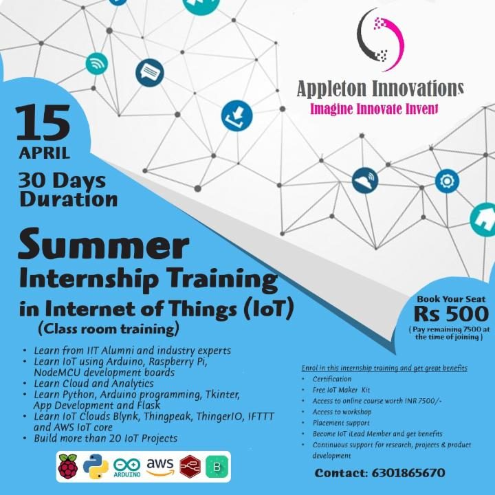 Summer Internship Training on Internet of Things ~ Localwire